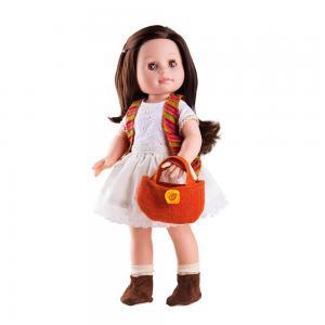 Emily hajasbaba, táskával 42 cm