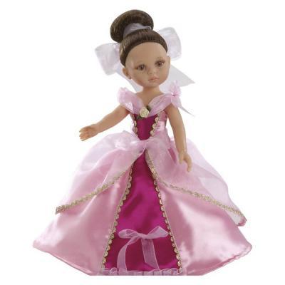 Játék hajas baba Carol hercegnő Fuxia