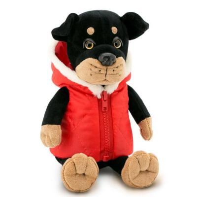 Max plüss rottweiler piros kabátban