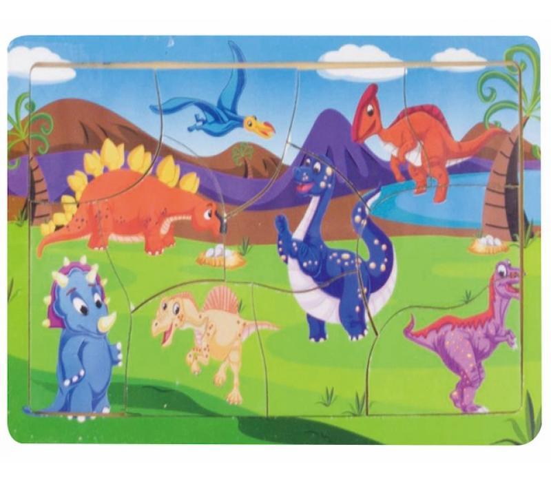 Dinoszauruszos fa puzzle