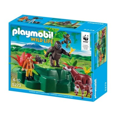 Playmobil 5415 - Zooloógus Gorillákkal És Okapikkal