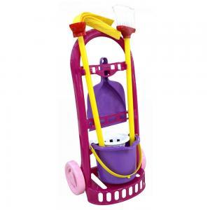 Játék takarítókocsi, lila