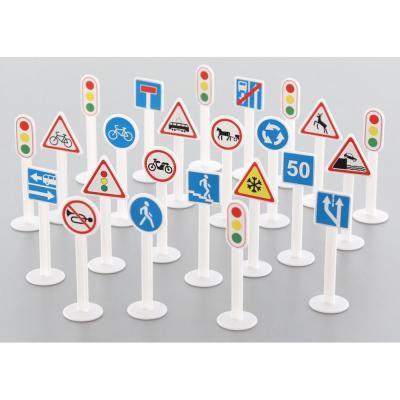 Közlekedési jelzőtáblák, 24 darabos