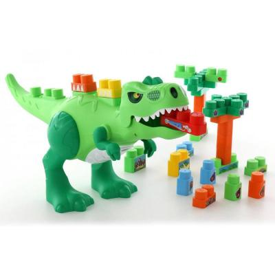 Molto Blocks dínós építőjáték, 30 darabos