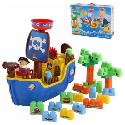 Molto Blocks kalózhajó építőjáték, 30 darabos