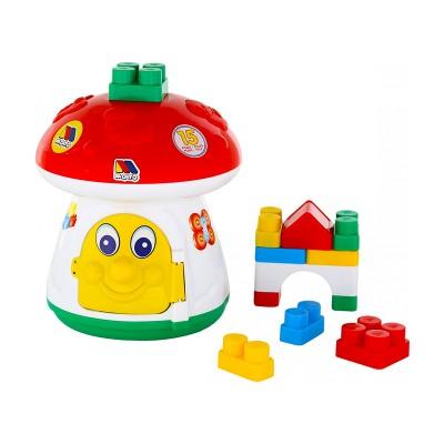 Készségfejlesztő gomba építőkockával