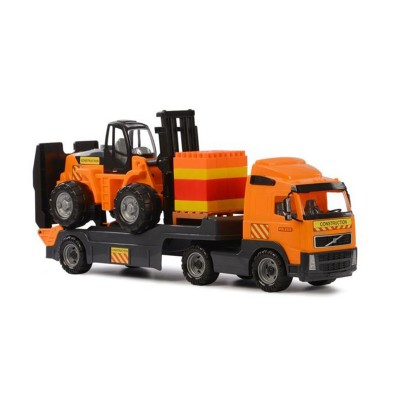 Volvo kamion targoncával és építőkockákkal 89,5 cm