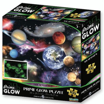 Naprendszer neon puzzle, 100 darabos