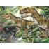Dinoszauruszok neon puzzle, 100 darabos
