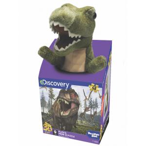 Tyrannosaurus 48 darabos puzzle plüss játékkal
