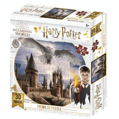 Harry Potter Hogwarts és Hedwig 3D puzzle, 500 darabos