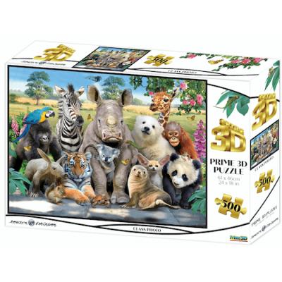 Állati osztálykép 3D puzzle, 500 darabos