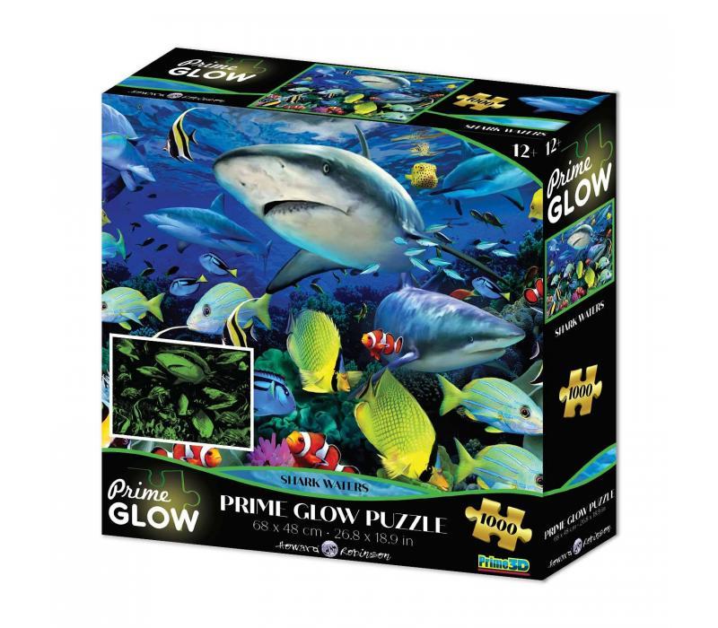 Cápák neon puzzle, 1000 darabos