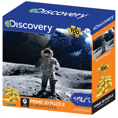 Űrhajós a Holdon Discovery Channel 3D puzzle. 100 darabos