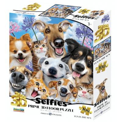 Állati szelfi 3D puzzle, 100 darabos