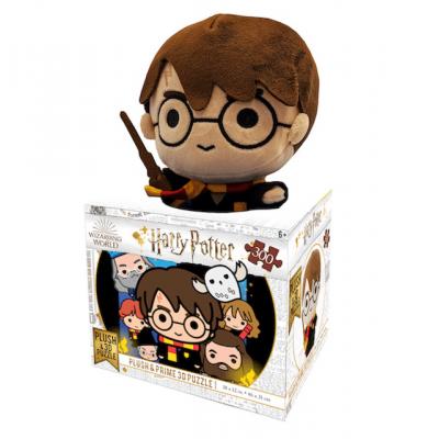 Harry Potter 300 darabos 3D puzzle plüss játékkal
