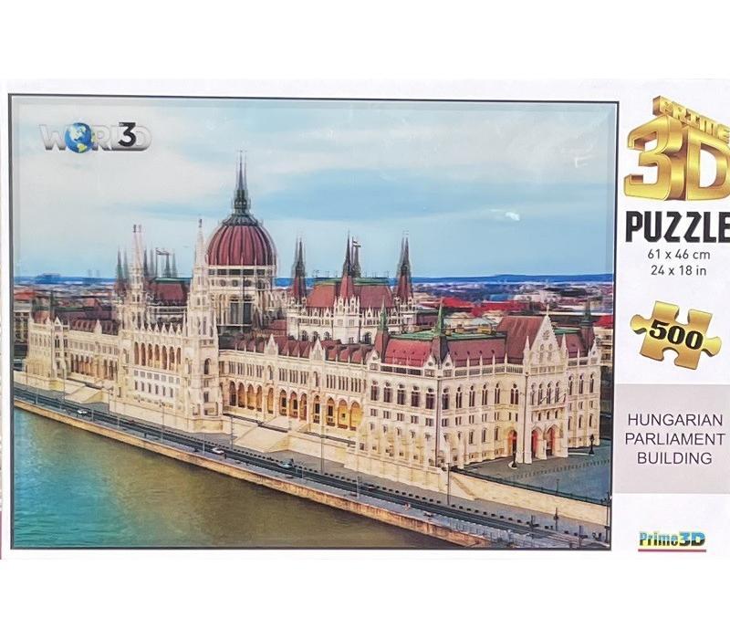 Magyar parlament 3D puzzle, 500 darabos