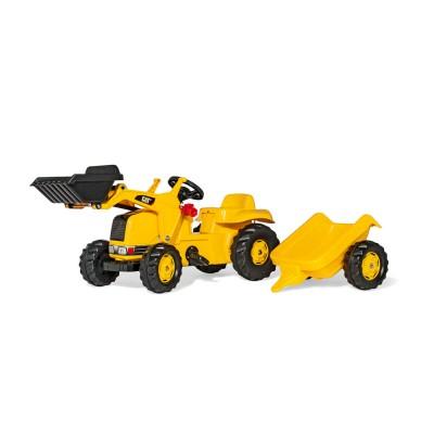 Rolly Kid CAT pedálos markolós traktor utánfutóval