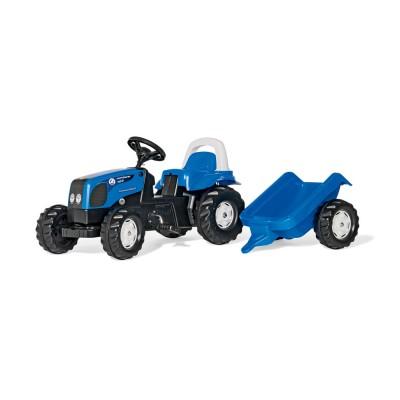 Rolly Kid Landini pedálos traktor utánfutóval