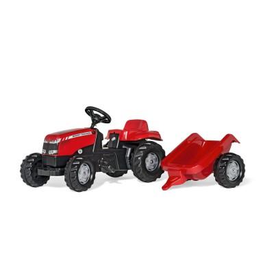 Rolly Kid Massey Ferguson pedálos traktor utánfutóval