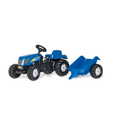 Rolly Kid New Holland T 7040 pedálos traktor utánfutóval