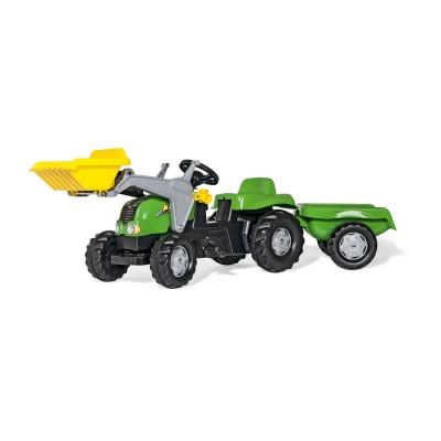 Rolly Kid-X pedálos markolós traktor utánfutóval