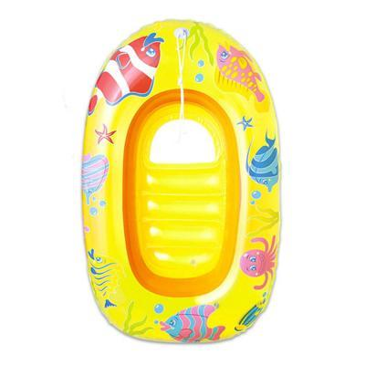 Sárga tengeri állatos csónak, 112x71cm