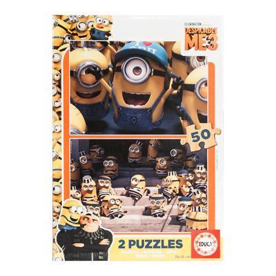 Educa Gru 3 fa puzzle, 2x50 darabos