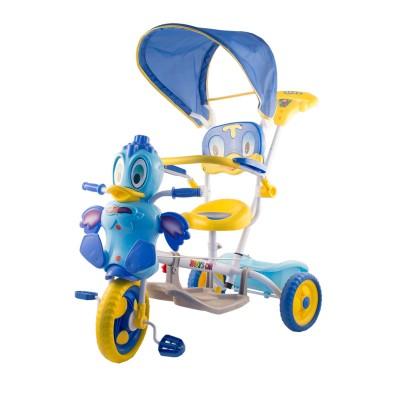 Kacsás fedeles tricikli, kék