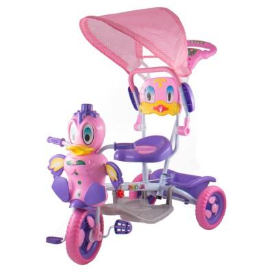 Kacsás fedeles tricikli, rózsaszín