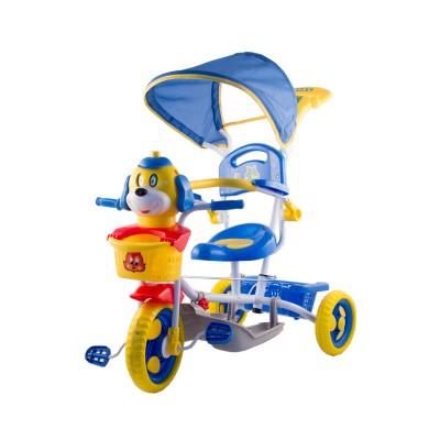 Kutyás fedeles tricikli, kék