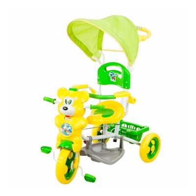 Macis fedeles tricikli, zöld - sárga