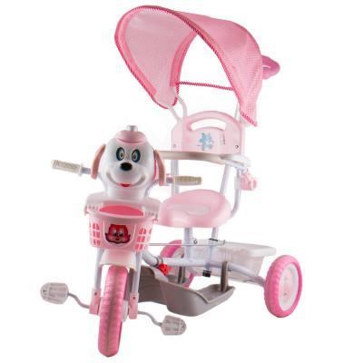 Kutyás fedeles tricikli, rózsaszín