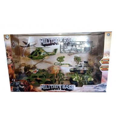 Katonai játékszett tankkal, autóval, quaddal és kiegészítőkkel