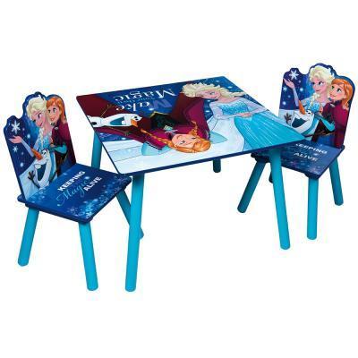 Jégvarázs fa gyerek asztal két székkel