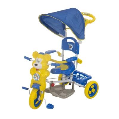 Macis fedeles tricikli, kék - sárga