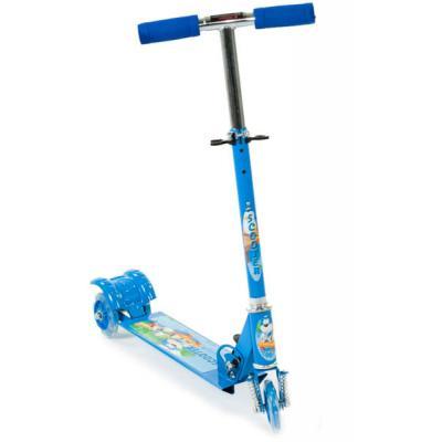Háromkerekű világító gyerek roller, kék