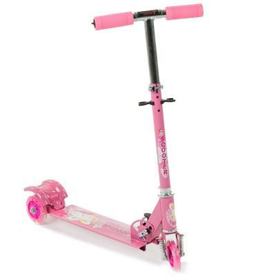 Háromkerekű világító gyerek roller, rózsaszín