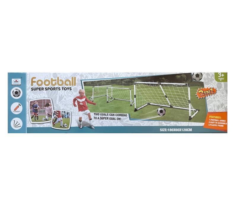 Focikapu szett 2 az 1-ben (2 darab focikapu 5-ös méretű labdával)