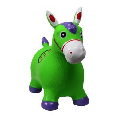 Zöld póni ugrálófigura