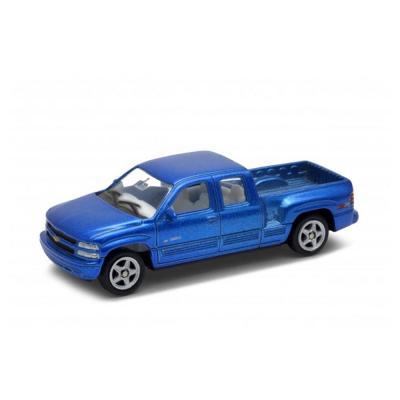 Welly Chevrolet Silverado kék kisautó, 1:60-64