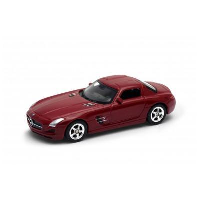Welly Mercedes-Benz SLS AMG piros kisautó, 1:60-64