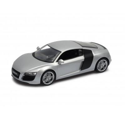 Welly Audi R8 ezüst kisautó, 1:24