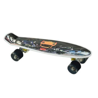 Penny board mintás gördeszka, fekete