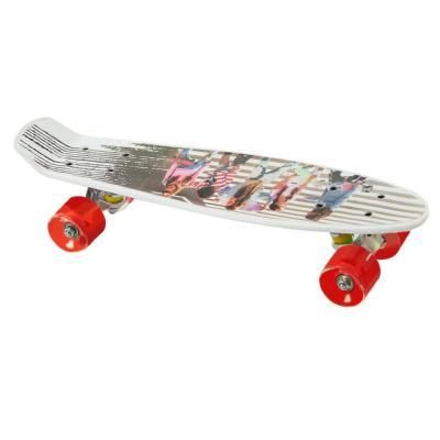Penny board mintás gördeszka, piros