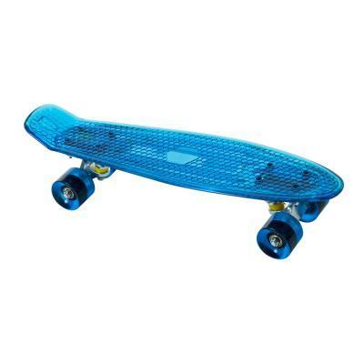 Világító penny board gördeszka, kék