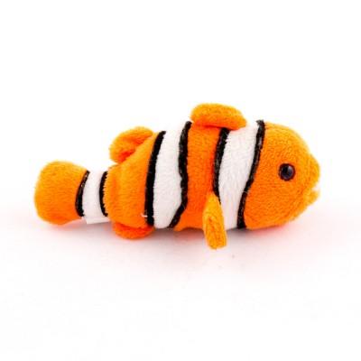 Bohóchal plüss állat, 12 cm
