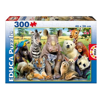 Educa Állati osztálykép puzzle, 300 darabos