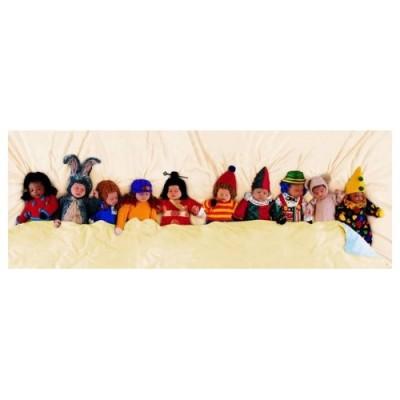 Educa Anne Geddes, Tízen az ágyban panoráma puzzle, 1000 darabos