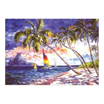 Educa Karib tengerpart puzzle, 2000 darabos
